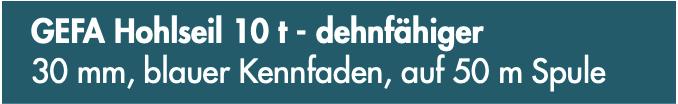 GEFA Hohlseil 10 t - dehnfähiger