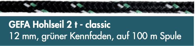GEFA Hohlseil 2 t - classic